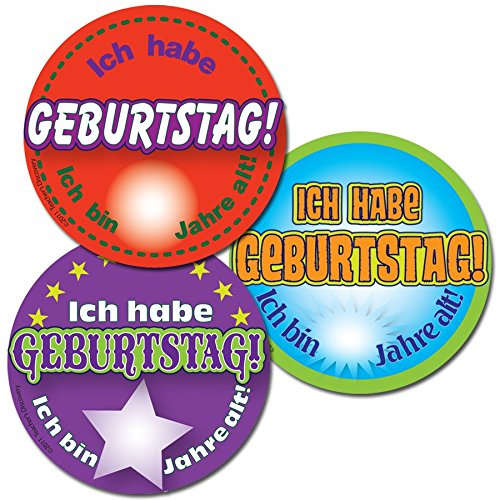 Amazon Its My Birthday German Stickers 90 Office Products