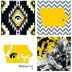 OCS University of Iowa Spirit A/4 Coasters, Multicolor