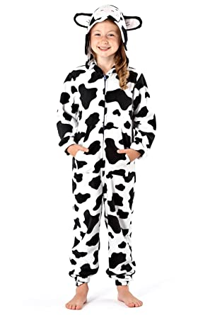 82998947f182a Girls Hooded Onesie Fleece All in One Kids Printed Jump Sleep Suit  Nightwear Cosy Pyjamas: Amazon.co.uk: Clothing
