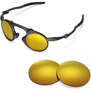 Walleva Replacement Lenses for Oakley Madman Sunglasses - Multiple Options  Available 4c879c11a9