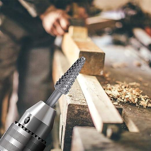 Ensemble de fraises rotatives outils /électriques meulage du bois r/âpe en acier solide outil de sculpture sur bois en carbure pour forets pour le polissage et la gravure