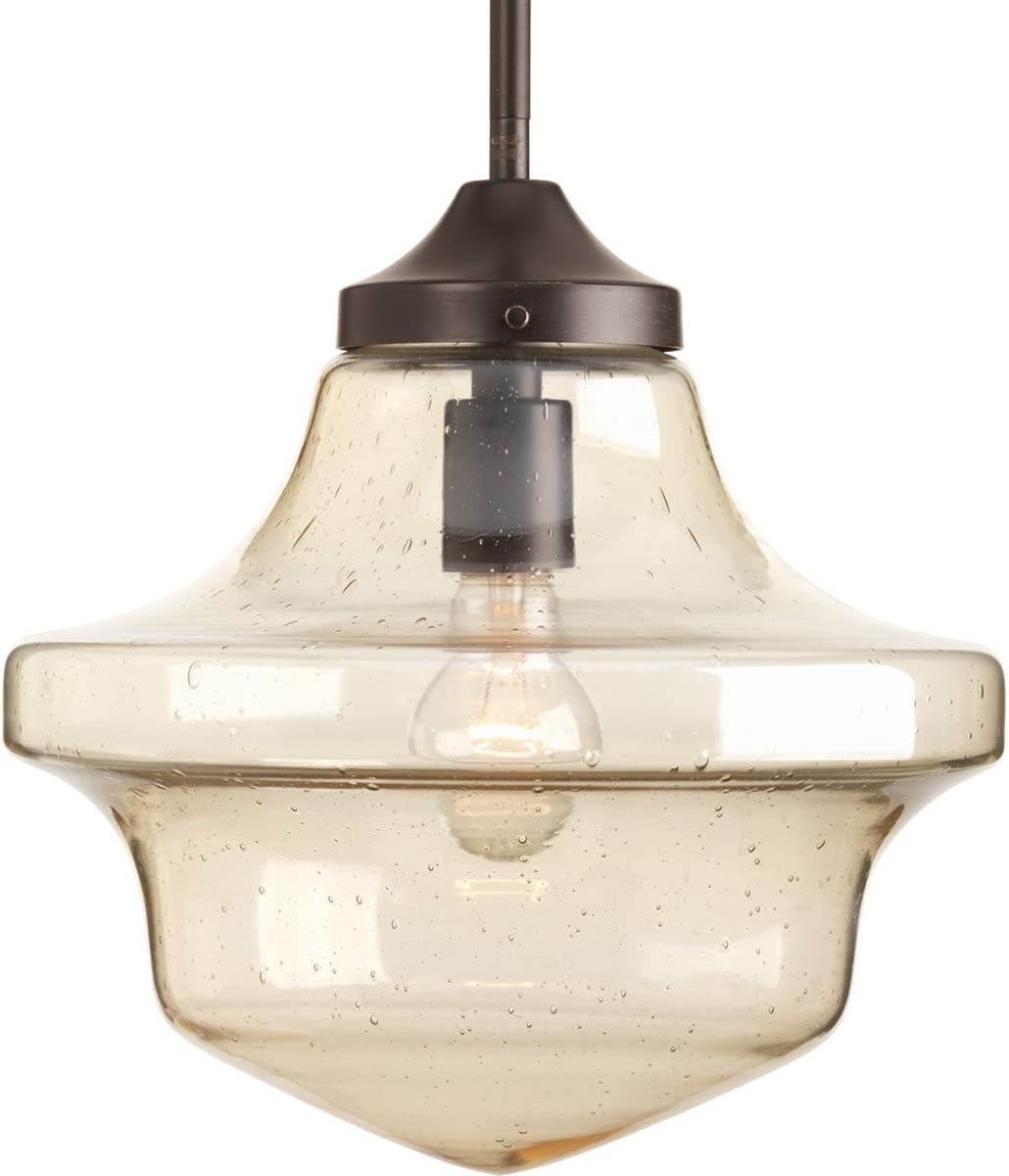 Progress Lighting P5138-20 Transitional One Light Pendant from Academy Collection Dark Finish, Antique Bronze