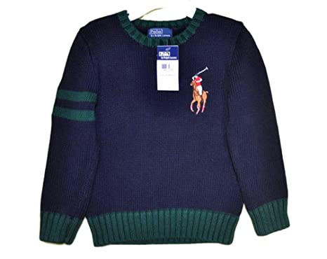Pullover Blau Polo Ralph Lauren Kinder big Pony 2 und 4