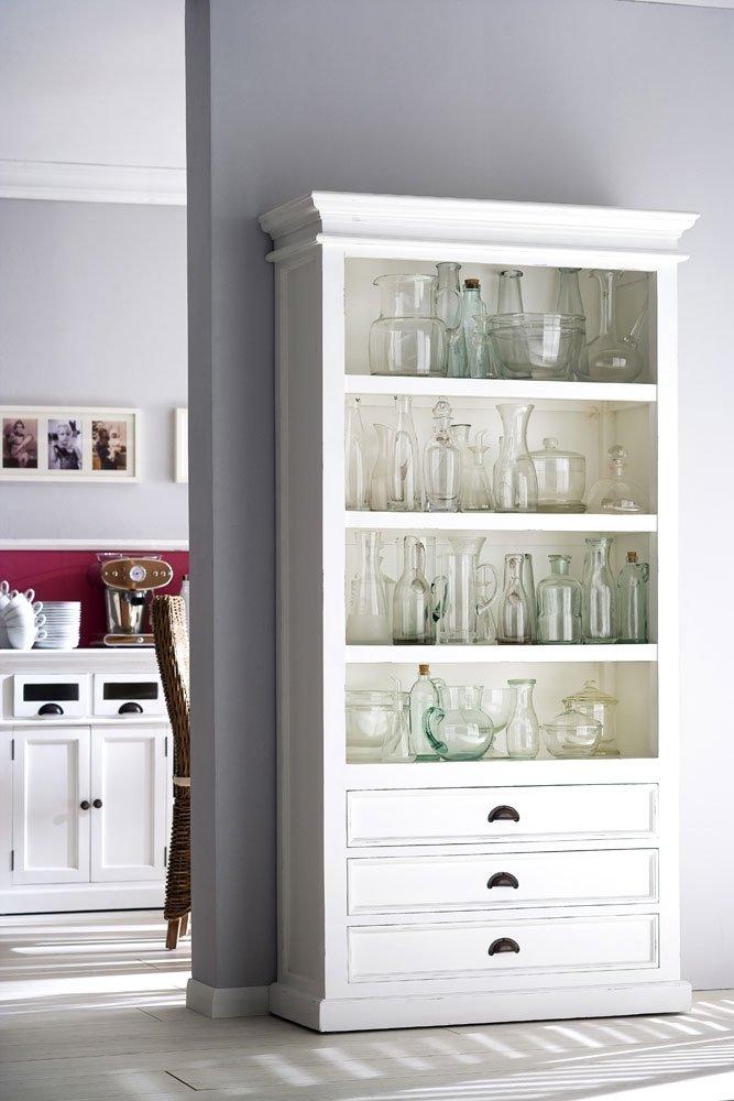 Albion, weiß lackiert, Mahagoni Wohnzimmer Schrank Möbel Bücherregal ...