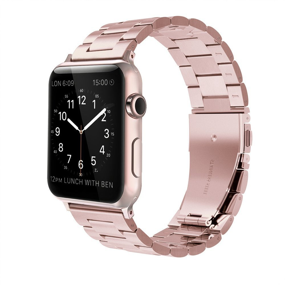For apple watch strap 38mm simpeak stainless steel amazon co uk electronics