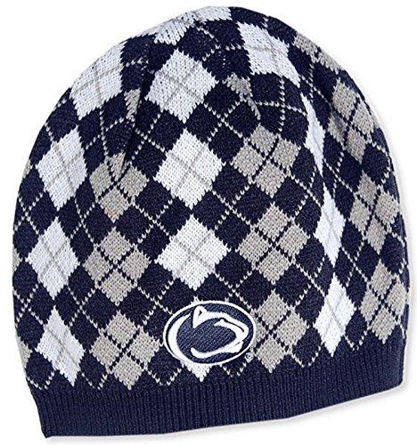 Penn State Argyle Beanie Knit Cap