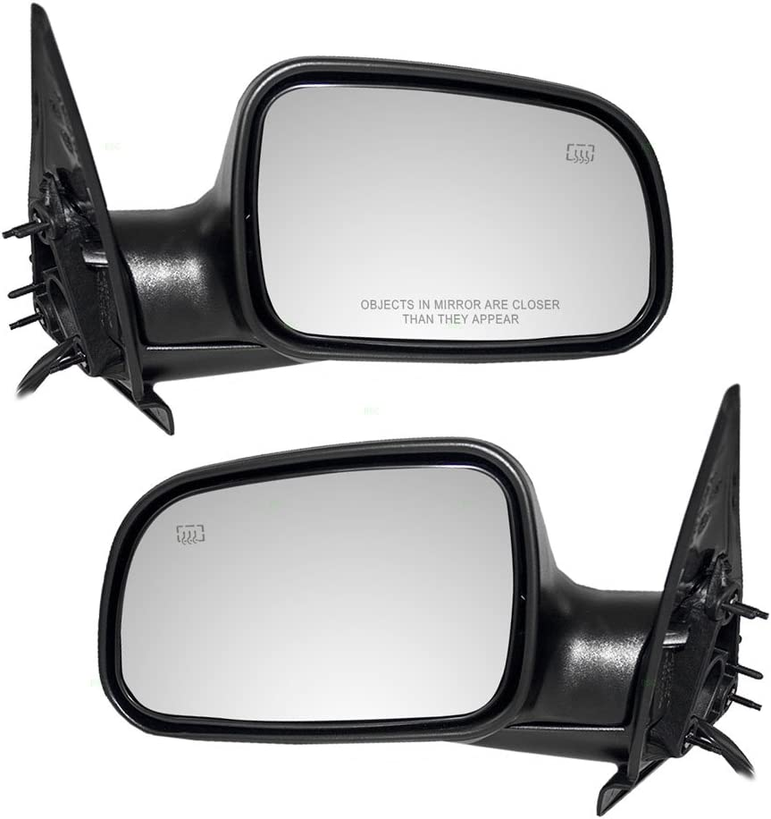 Passengers Power Side View Mirror Heated with 8 Pigtail Textured Replacement for Jeep SUV 55155232AE AutoAndArt
