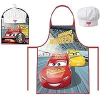 Tablier et Toque Disney Cars Coffret Petit Cuisinier 3 à 8 ans Cuisine déguisement enfant