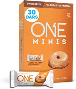 ONE 1Protein Bars, Maple Glazed Doughnut, Gluten-Free Protein Bar with 7g Protein and Less Than 1g Sugar, Snacking for Fitness Diets, 30 Count