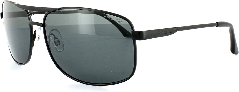 POLAROID metal Dark Ruthenium Sunglasses Dark Grey Polarized Lenses PLD2017 KJ1