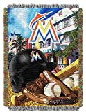 """MLB Miami Marlins Home Field Advantage Woven Tapestry Throw, 48"""" x 60"""""""