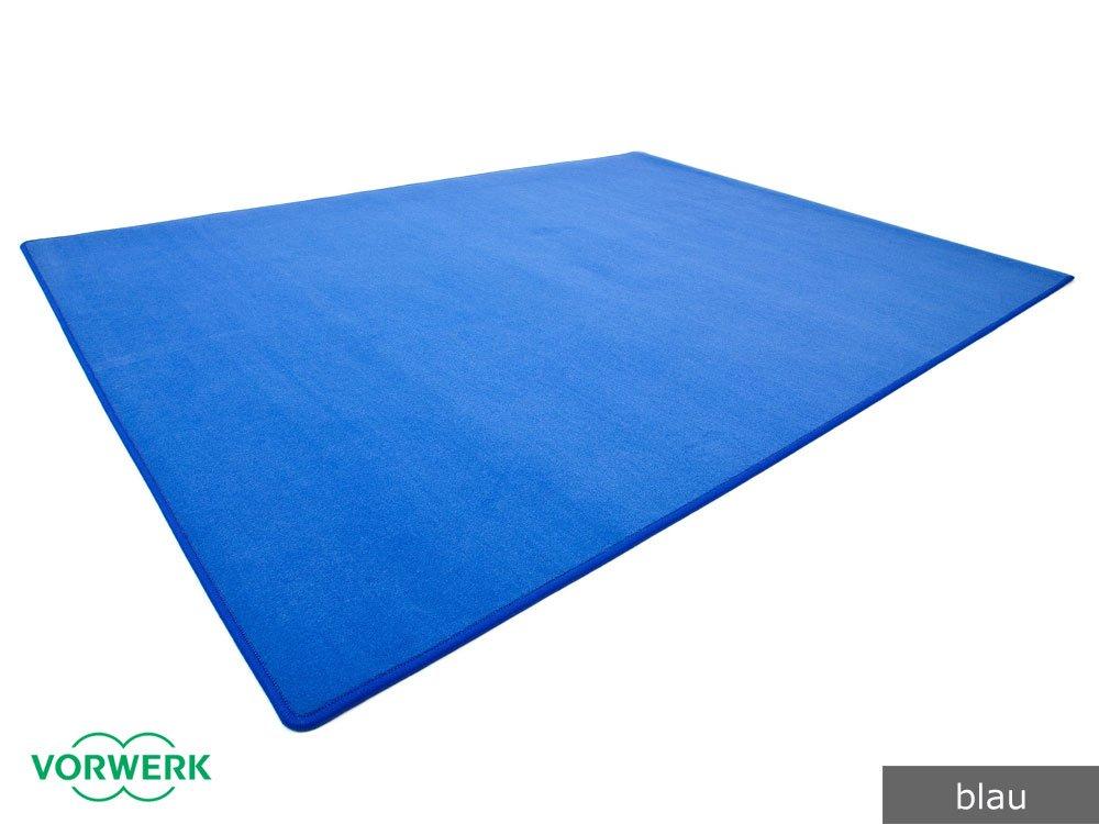 Vorwerk Bijou blau der HEVO® Spielteppich nicht nur für Kinder 200x400 cm