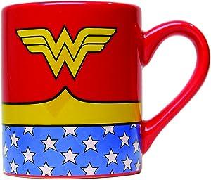 Silver Buffalo DC Comics Wonder Woman Uniform Jumbo Ceramic, 20-Ounces Mug, 20 Oz, Multicolor