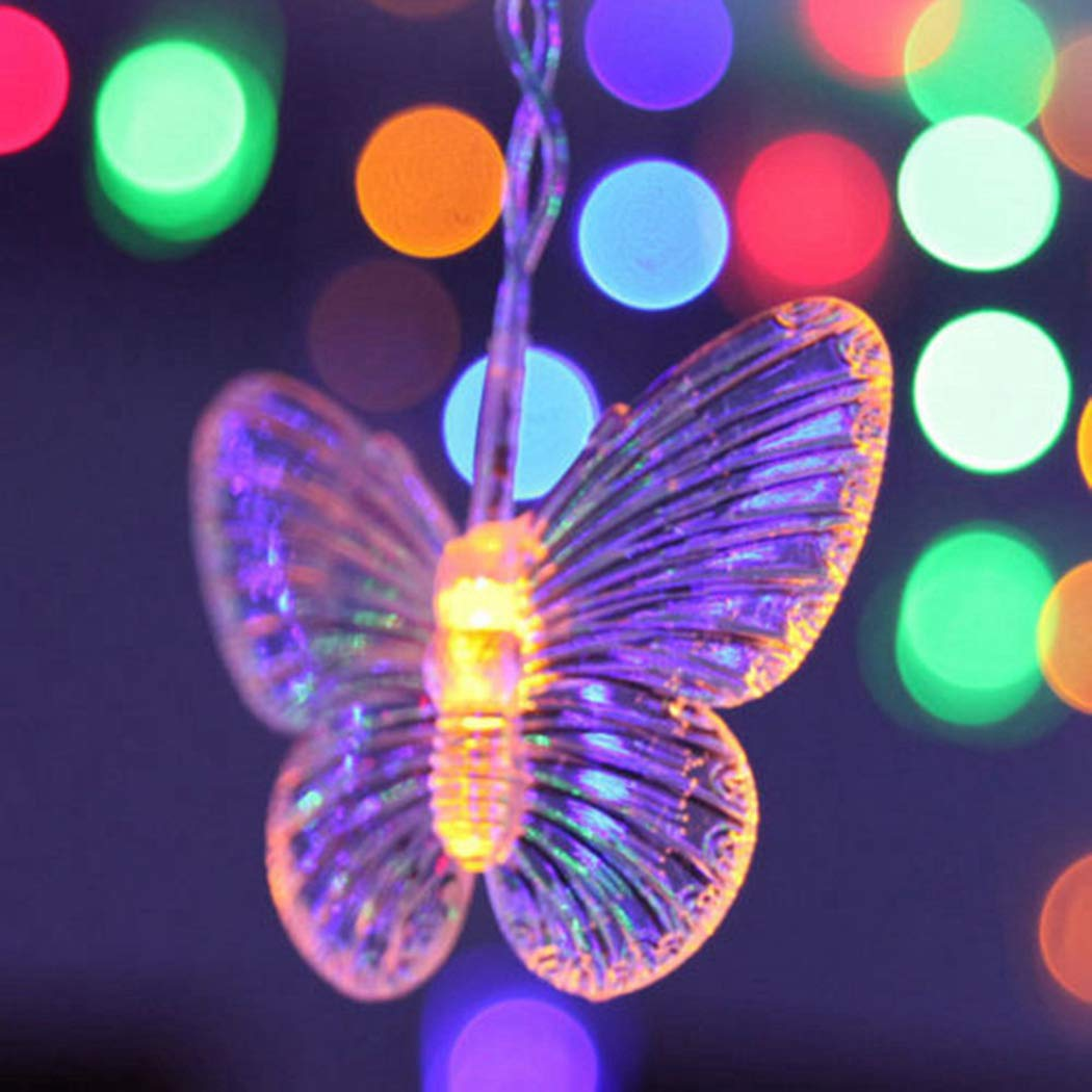 B bangcool USB Powered 80 Butterfly LED String Lights, 8.2ft Waterproof Decorations Light Decor for Indoor/Outdoor Christmas, Birthday, Holiday, Valentine Wedding Decoration