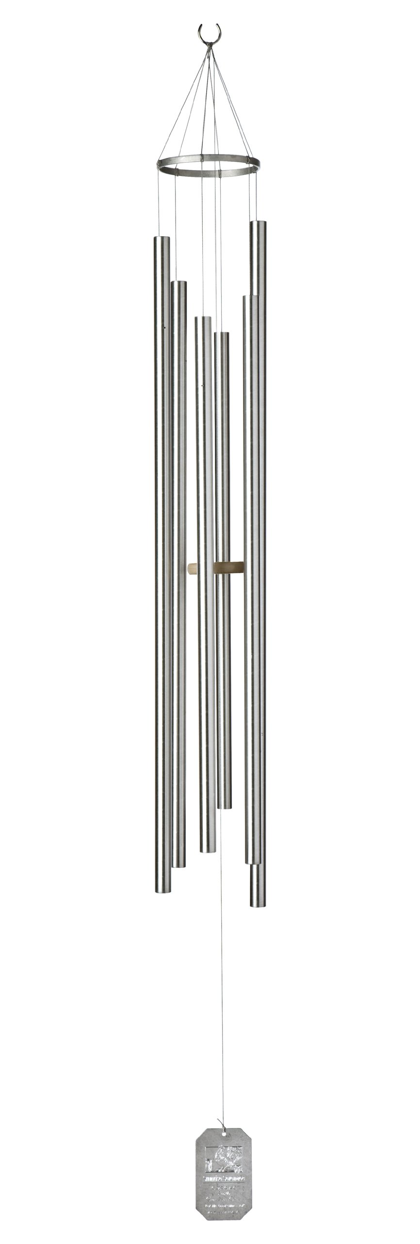 Grace Note Chimes 7PS Petite Steeple Sunrise Serenade Wind Chimes, 50-Inch, Silver by Grace Note Chimes