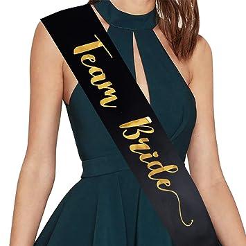 team bride sash bridal shower bachelorette party sash hen party wedding decorations party favors accessories