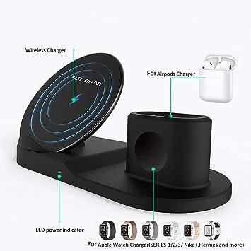 LUFEILI Soporte de Cargador inalámbrico para iPhone Airpods ...