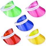 dbc4b17b Neon Yellow Sun Visor Hat Headband Fancy Dress Sport Pub Golf Tennis ...