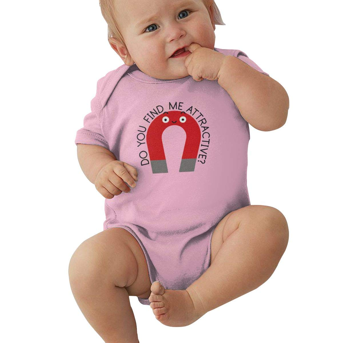 Mri-le2 Baby Boy Girl Short Sleeve Organic Bodysuits BE Steel My Heart Kid Pajamas