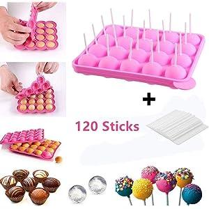 newthinking 20 de silicona bandeja Pop Cake Stick mould ...