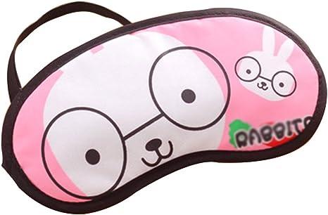 pour /éviter la lumi/ère Fansi 1 Pcs Cute Ice Bag Masque Sommeil R/églable Relax Masque pour Les Yeux pour Le Sommeil ou la Sieste Rose