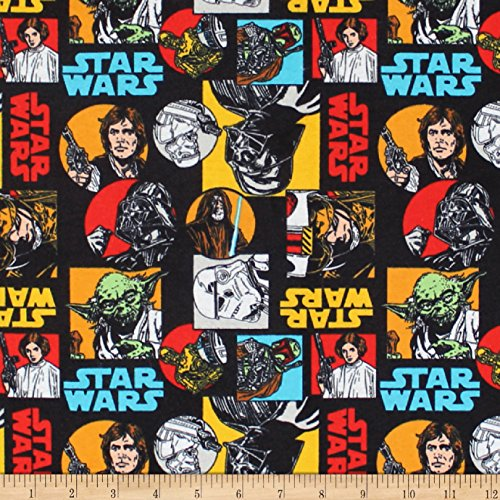 (Camelot Fabrics Star Wars Characters Flannel Multi Fabric by the Yard)
