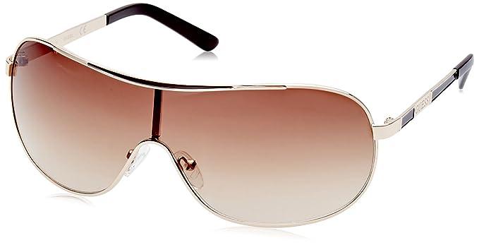 Guess Guf110, Gafas de Sol para Hombre, Dorado, 52