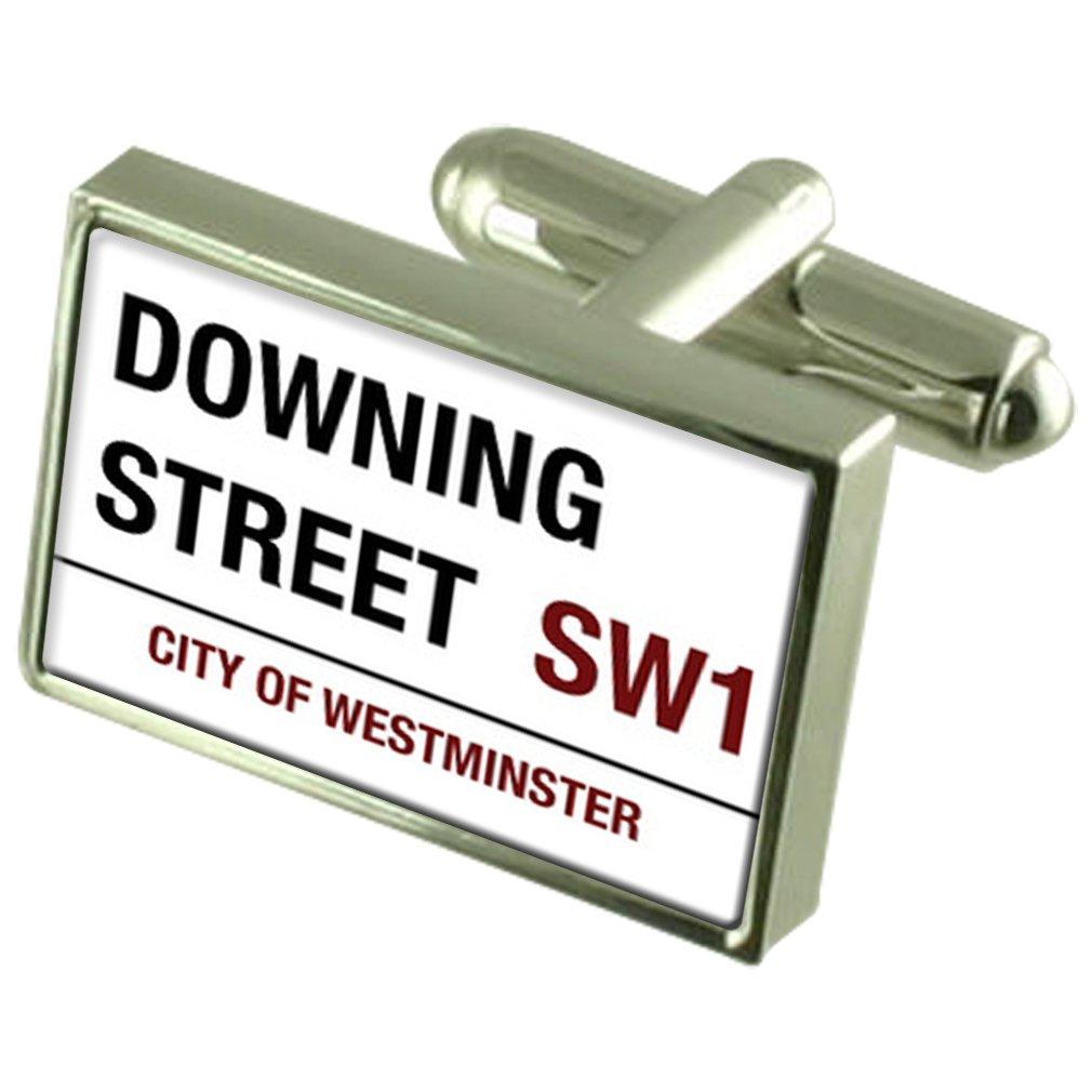 Señal de Carretera de Downing Street Gemelos Crystal Clip de ...