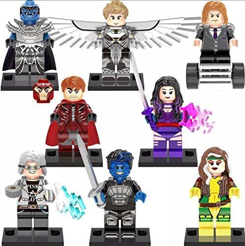 8 Sets MiniFigures Super Heroes X-Men Building Toys