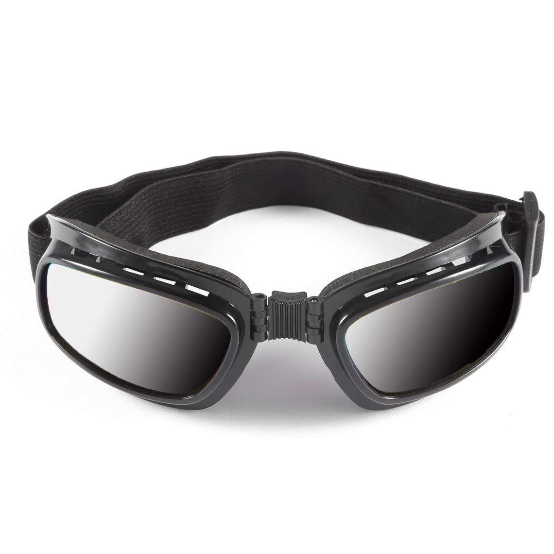 Plegables Gafas de Motocicleta Vintage a Prueba de Viento a Prueba de Polvo Gafas de esqu/í Off Road Racing Gafas Gafas Banda el/ástica Ajustable