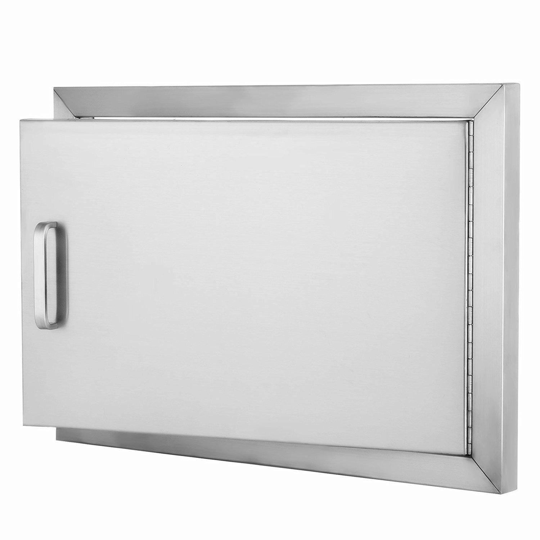 """Z-bond 20""""Wx 14""""H BBQ Access Door 304 Stainless Steel BBQ Island Door Heavy Duty Single Horizontal Door for Outdoor Kitchen"""