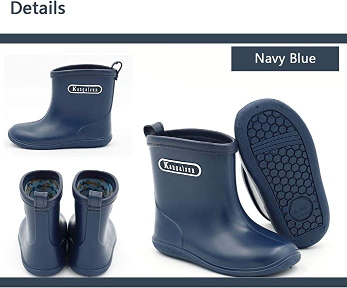 MO MOKER Little Kid Big Kid Soft Rubber Long and Tube-Shaped Rain Boots Anti-Slip Rain Shoes,b,22