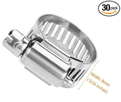 Amazon com: Cococart 30 pcs Adjustable 6-27mm Range Stainless Steel