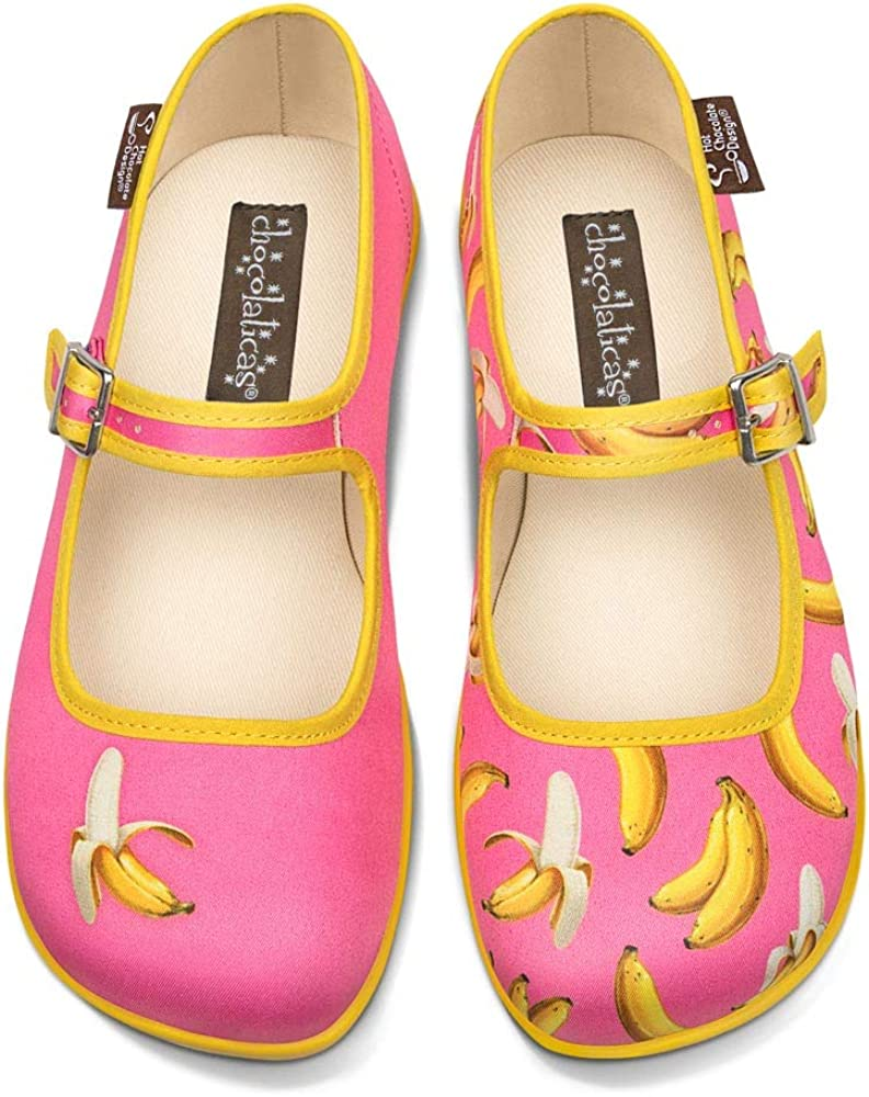 Hot Chocolate Design Chocolaticas Funky Canvas Womens Mary Jane Flat Shoes