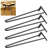 Yaheetech 16'' Heavy Duty Table Legs Set of 4 Dining Table Laptop Desk Leg Black