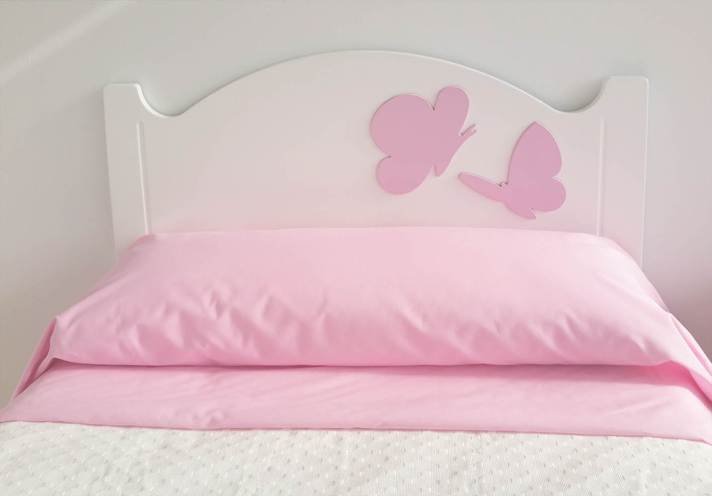 Anastasía 90 Child's Headboard Butterflies Design Pink Crealber