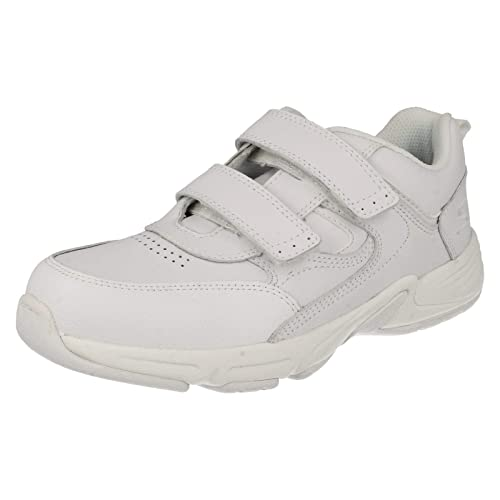 outlet store 02b1b 89ec9 Meteor, White Leather Riptape Trainers F  1  White