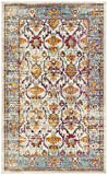 Safavieh Crystal Collection CRS518G Cream and Teal Distressed Area Rug (3′ x 5′) Review