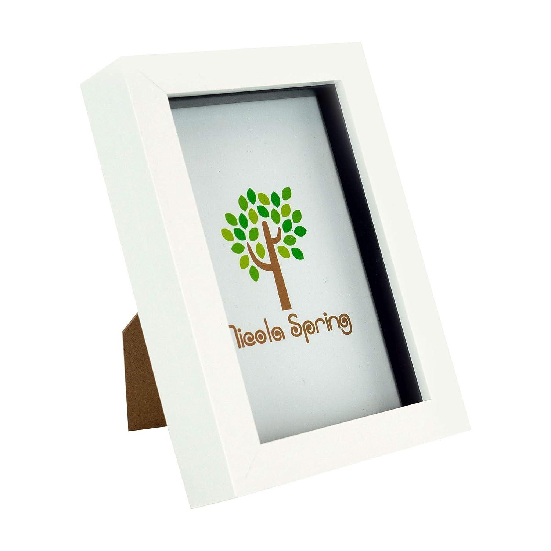Nicola Springホワイト4 x 6ボックスフォトフレーム – Standing & Hanging   B0196GSUVE