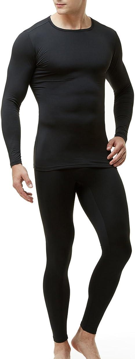M/&S MENS BLACK THERMAL WOOL BLEND LONG JOHNS PANTS MAXIMUM WARMTH S L XL 2XL
