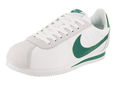 NIKE Classic Cortez Mens Trainers White Green , 11 UK
