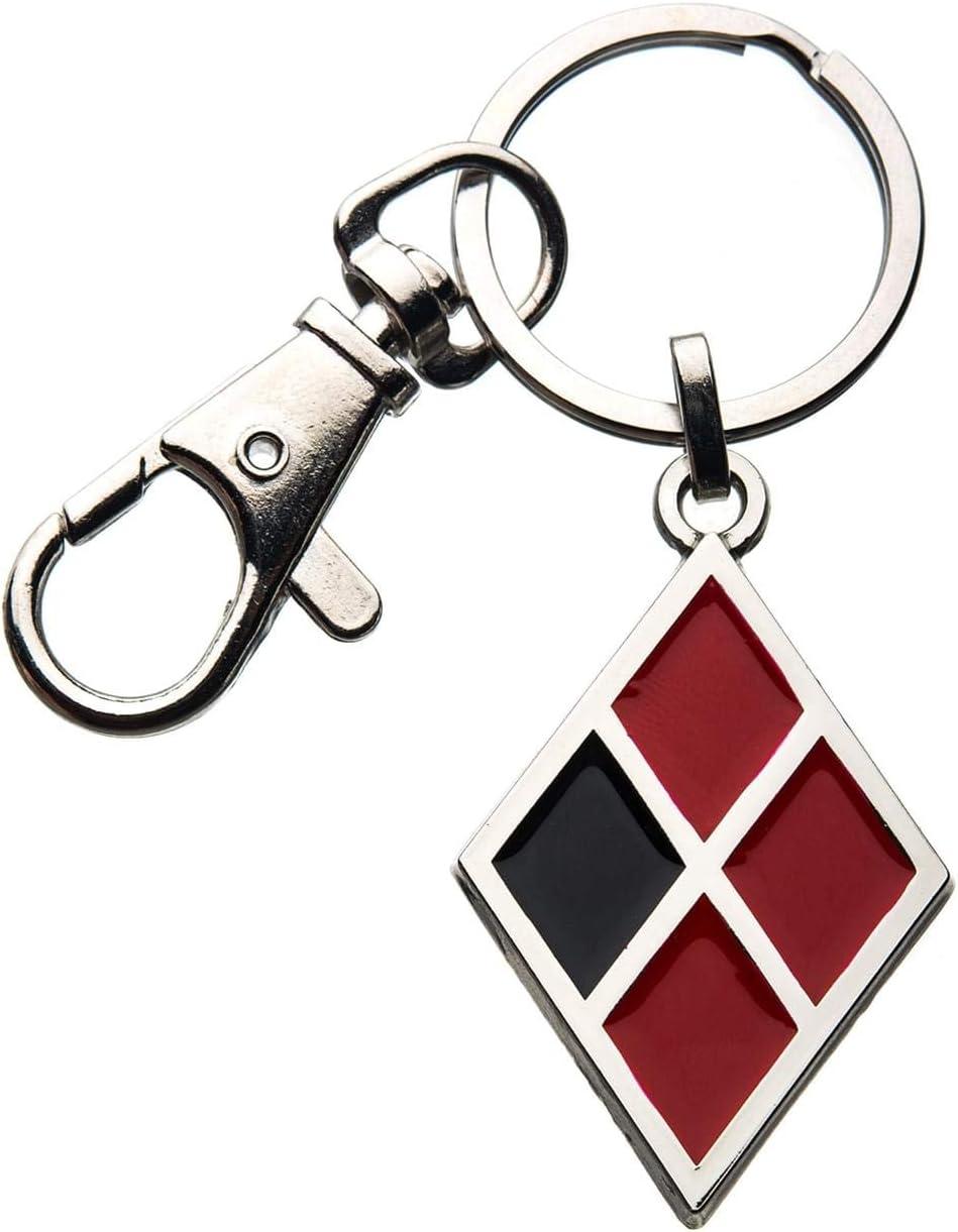Amazon Com Salesone Llc Birds Of Prey Harley Quinn Diamond Logo Enamel Keychain Toys Games