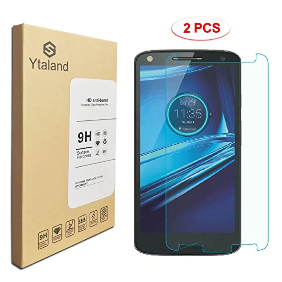 [2 Pack] Motorola Droid Turbo 2 Screen Protector 5.4 Inch, Tempered Glass Anti