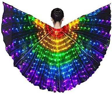 Luminous Belly Dance Butterfly LED Rainbow Wings Performance Stage Costume