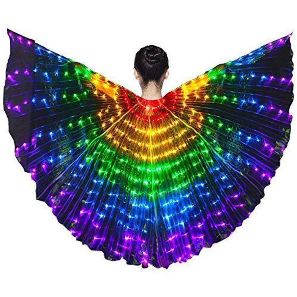 Luckstar colorful belly dancing wings