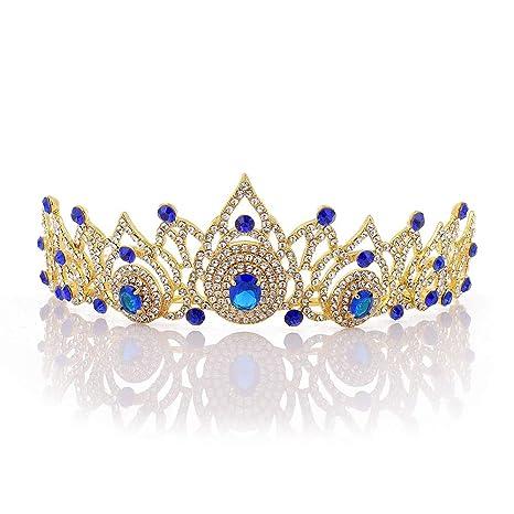 Mitad de precio Moda diseño popular Boda tiara rhinestones decorados novia Vintage princesa ...