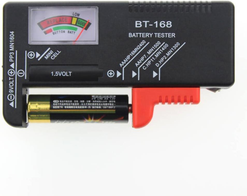 Godagoda BT-168 9V Testeur de Batterie Voiture Tester Batterie Capacit/é Instrument de Mesure Indicateur de Pointeur avec Carte