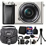 Sony Alpha A6000 Mirrorless Digital Camera with 16GB Top Accessory Bundle