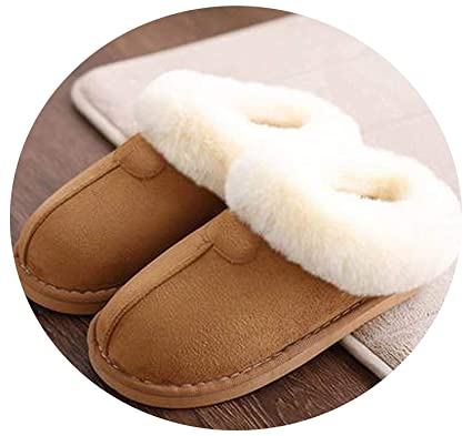 ff2ae395fa715d Amazon.com  Home Slippers Women Plush Slippers Australia UGG Style Female  House Indoor Man Bathroom Slippers Solid Fun-shop pantufa for  Lovers