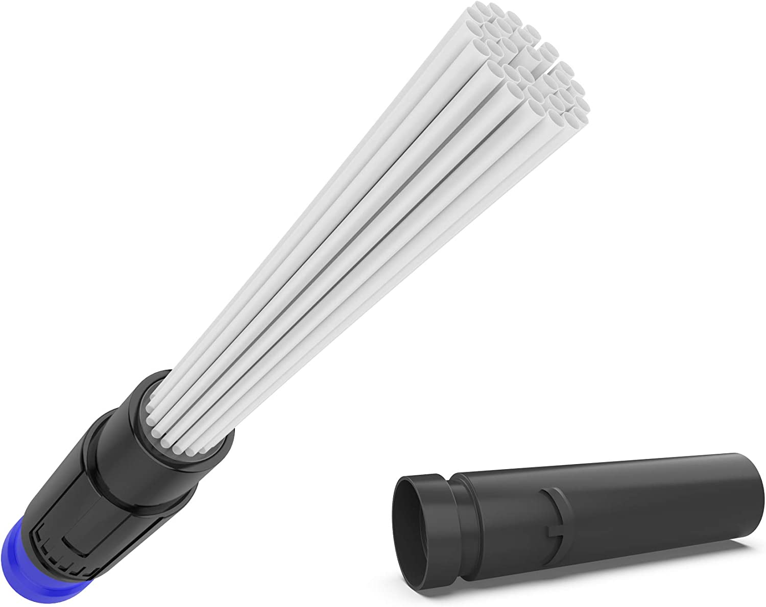 Zenaday CleenSpree Universal Vacuum Attachment Dust Cleaning Set - Brush Tool with Flexible Suction Tube Brushes for Tight, Hard to Reach Gaps - Plus Extra Attachment Extension for Most Common Sizes